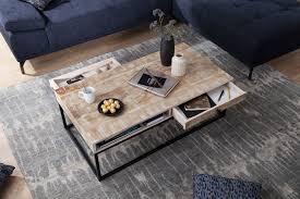 kadima design designer couchtisch massivholz metall 115 x
