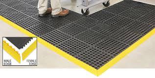 interlocking floor mats modular mats in stock uline