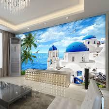 beibehang moderne minimalistischen frische ägäis tapete schlafzimmer wohnzimmer tv hintergrund esszimmer höhle papel de parede