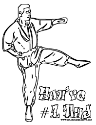 Kids Coloring Pages Martial Artsprintablecoloring
