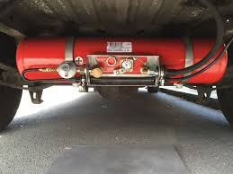 VW Crafter Van Conversion LPG Tank Installation Boiler And Hob