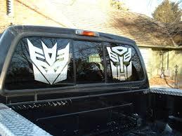 100 Custom Window Decals For Trucks Transformers Autobot Decal Sticker