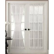 Bed Bath And Beyond Semi Sheer Curtains by Reverie Snow Voile Semi Sheer Door Panels Curtain Panel Curtains