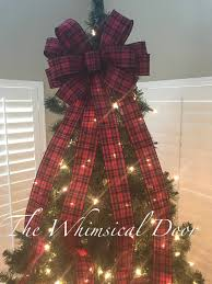 Darth Vader Christmas Tree Topper by Buffalo Plaid Tree Bow Christmas Tree Topper Bow Whimsical Bow