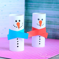 Kids Crafts That Anyone Can Make Happiness Is Homemade Easy Craft Paper Roll Snowman For Teens To And Sell Step
