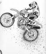 Travis Pastrana Original Illustration Rendering Honda Racing