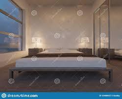 100 Modern Minimalist Decor Bedroom Wooden Bed Stock Image Image Of