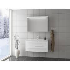 scanbad badmöbel set 100 cm mit spiegelschrank fox weiß matt