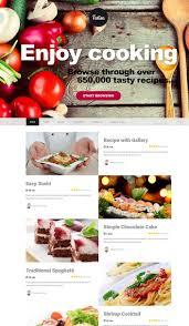 site recette de cuisine talisa un thème pour site web de recettes de cuisine