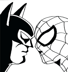 Coloring Pages Free Printable Lego Superman Logo Batman Emblem