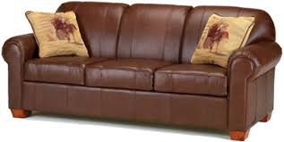 Thoroughbred Brown Leather Sofa