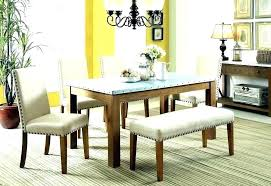 Black Dining Room Table Sets White Picturesque Set With Bench Dark
