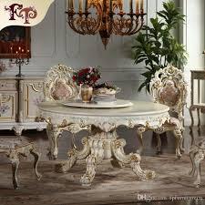 großhandel europäische antike esszimmermöbel handgeschnitzte esszimmermöbel möbel im italienischen stil klassischer runder esstisch fpfurniturecn