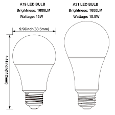 led a19 light bulb 100w equivalent e26 base torchstar
