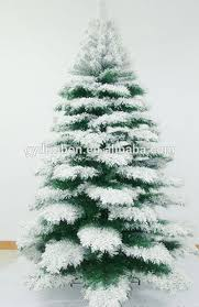 Pre Lit Folding Christmas Tree Falling Snow With Artificial Style