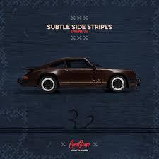 Porsche Subtle Side Stripes Set 32 Engine CarBonepl