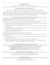 Hr Sample Resume Human Resource Resumes Manager Format Resources Examples