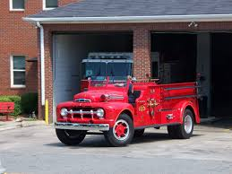 100 Ford Fire Truck Dept S GA FL AL Rescue Station Men Volunteer