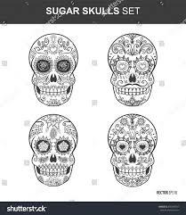 Easy Sugar Skull Day Of by Sugar Skull Set Day Dead Sugar Stock Vector 330389747 Shutterstock
