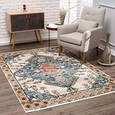 myshop24 teppich wohnzimmer orient 80x150cm multicolor vintage modern boho design mit fransen oeko tex standard 100 allergiker geeignet