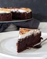 schokoladen baiser kuchen kochstübchen