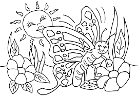 Downloads Online Coloring Page Printable Spring Pages 86 For Free Colouring With