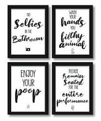 4er set poster a4 bild lustige bad wc sprüche badezimmer