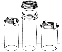 Reading Roses Prose Classic Canning Jars Clip Art ClipArt