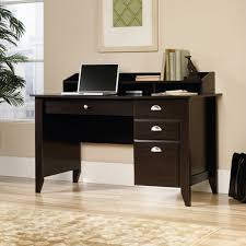 sauder harbor view computer desk with hutch antiqued white within