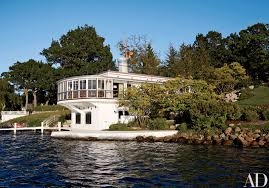 100 Lake Boat House Designs Michael S Smith Brings Art Deco Flair To A Waterfront Home