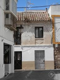 100 Tarifa House Sunny Side Street With Traditionally Tiled House In Old Part