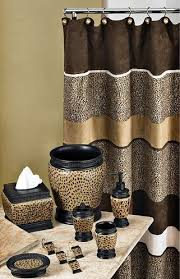Leopard And Red Bathroom Decor by Leopard Bathroom Set Decorating Clear