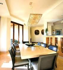 Cool Dining Room Light Fixtures Best Lighting For Rectangle Angular