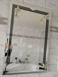 badezimmer spiegel mit gold