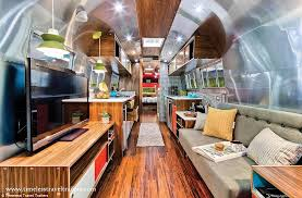 Custom Chic The Inside Of This Updated Airstream Looks Like Some Manhattan Apartments