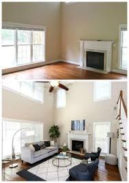 Vacant home staging before and after rooms with a view