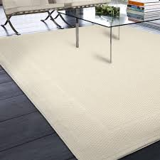 Three Posts Acton Ivory Solid Indoor Outdoor Area Rug & Reviews