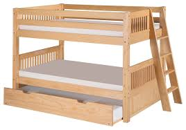 Twin Low Bunk Bed Twin Trundle Mission Headboard Lateral Angle
