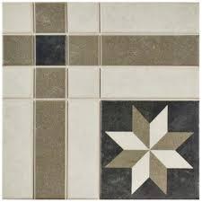Home Depot Floor Tiles Porcelain by Merola Tile Century Antebellum 9 3 4 In X 9 3 4 In Porcelain
