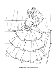 Barbie Coloring Pages Fashion 14 BarbieColoringPages