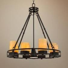 Faux Candle Chandelier 17