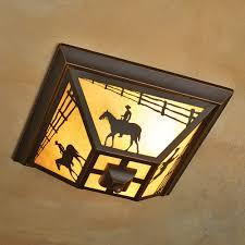 cowboy rider flush mount ceiling light