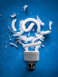 broken cfl mercury light bulb cleanup services