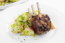 Pumpkin Ravioli Sage Butter Mkr by Potato Galettes With Roasted Lamb Racks Recipe Lambs Lamb
