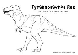 T Rex Dinosaur Coloring Pages