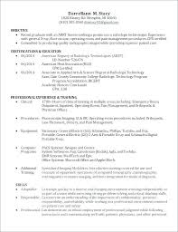 Radiology Technician Resume Technologist Sample X Ray Cover Letter
