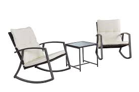 Feelway Outdoor 3 Pcs Rocking Chair Patio Wicker Furniture Bistro Set With  Two Chairs One Table Cushioned (Wicker) First Choice Lb Intertional White Resin Wicker Rocking Chairs Fniture Patio Front Porch Wooden Details About Folding Lawn Chair Outdoor Camping Deck Plastic Contoured Seat Gci Pod Rocker Collapsible Cheap For Find Swivel 20zjubspiderwebco On Stock Photo Image Of Rocking Hanover San Marino 3 Piece Bradley Slat