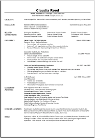 Communications Resume Sample