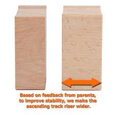 amazon com 110 pcs orbrium toys multi level wooden train track