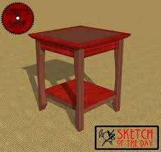 Plans For A Simple End Table by End Table Chief U0027s Shop